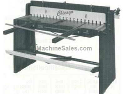 Foot Stomp operated Sheet Metal Shear