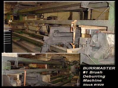 "BURRMASTER #1 Brush Deburring Machine 3"" OD x 168"" Max."