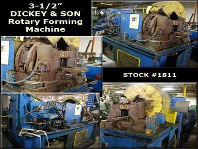 "3-1/2"" DICKEY & SON P.D. & B Rotary Forming Machine"