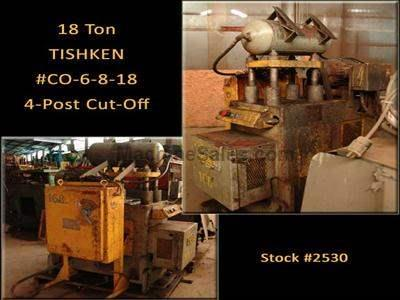 18 Ton TISHKEN #CO-6-8-18 4-Post Cut-Off