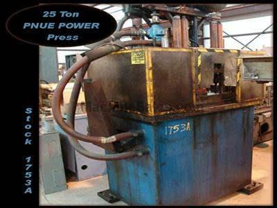 25 Ton Pneu Power Press