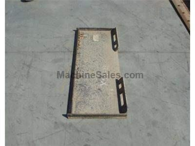 Used Backing Plate for Skidsteer Attachments, Bobtach, New