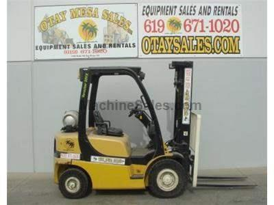 5000LB Forklift, OSHA Compliant, Tier 3, 3 Stage, Side Shift, Solid Pneumatic Tires