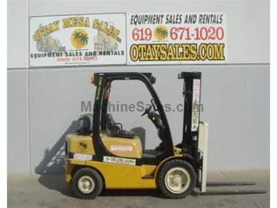 6000LB Forklift, Pneumatic Tires, 3 Stage, Side Shift, Propane, Automatic Transmission, Low Hours