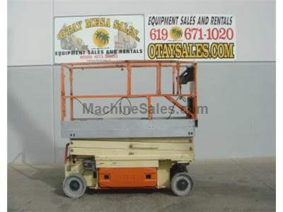 Electric Scissorlift, Narrow Aisle, 30 Inch Width, 26 Foot Working Height, Deck Extension