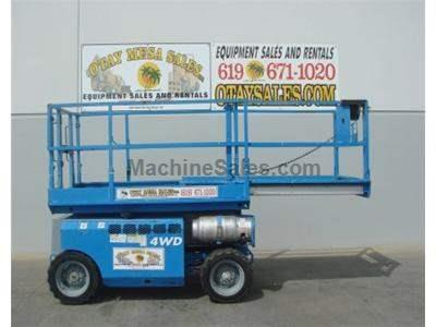 Used Rough Terrain Scissor Lift, 32 Foot Working Height