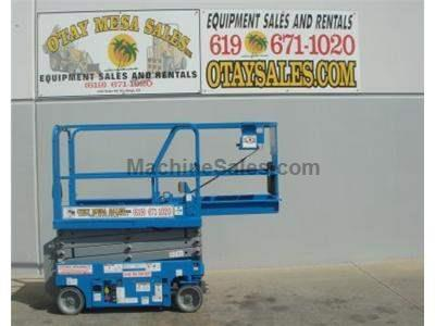 Electric Scissor Lift, 25 Foot Working Height, Narrow 30 Inch Width Fits Through Standard Doorways