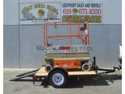 Tilt Deck Scissorlift Trailer, New and Used JLG 2030ES Electric Scissor Lift (demo photos shown)