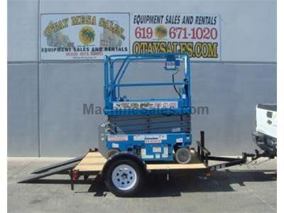Tilt Deck Scissorlift Trailer, New and Used Genie GS1930 Electric Scissor Lift (demo photos shown)