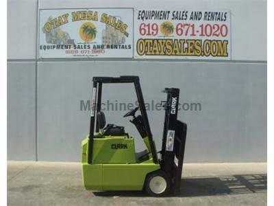 3000LB Forklift, Electric 3 Wheel Sit Down, Side Shift, Includes Warrantied Battery and Commercial Charger