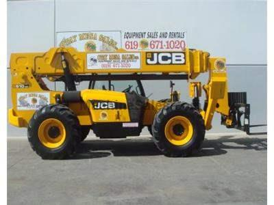 10000LB Telehandler Reach Truck, 56 Foot Reach Height, Body Tilt, 4 Wheel Drive, Auxiliary Hydraulics