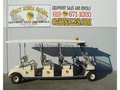 8 Seat Electric Cart,, Roll Up Canopy Doors, Turf Tires
