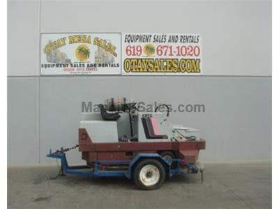 Sweeper Scrubber, Propane Powered, Packaged with Trailer
