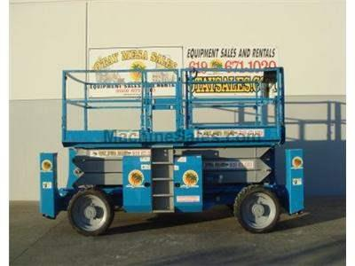 Scissor Lift, Rough Terrain, 39 Foot Working Height, 33 Foot Platform Height, Dual Fuel
