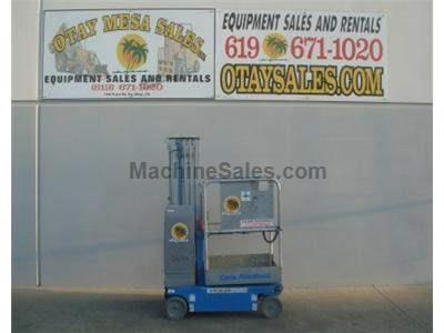 Single Man Lift, 20 Foot Platform, 26 Foot Working Height, Self Propelled, Power to Platform, 24v