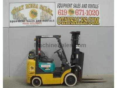 5000LB Forklift, 3 Stage, Side Shift, Automatic, Propane, Cushion Tires