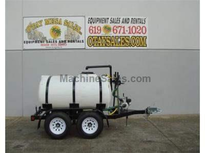 500 Gallon Water Tank Trailer, Dual Axle, 4hp Honda Engine, Rear Sprayers, 2 Inch Hose Port