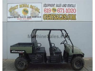 Polaris Ranger Crew Utility Vehicle, 6 Passenger, Gas Power, 4x4 with Dump Bed