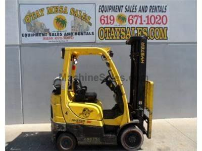 5000LB Forklift, Cushion Tire, 3 Stage, Side Shift, Propane, Automatic