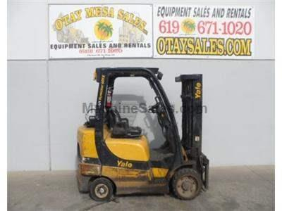 6000LB Forklift, Cushion Tires, Propane Powered, Side Shift, 4th Valve, Automatic Transmission