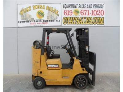 8000LB Forklift, Cushion Tires, 3 Stage, Side Shift, Propane Power