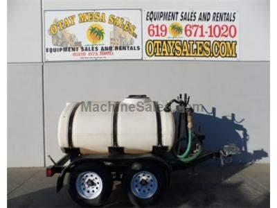 500 Gallon Water Tank, Trailer Mounted, Gasoline Engine, 2 Inch Hose Port