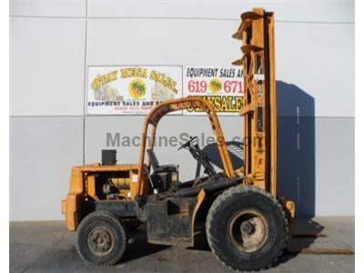 6000LB Forklift, Rough Terrain, 30 Foot Lift Height, Diesel Engine