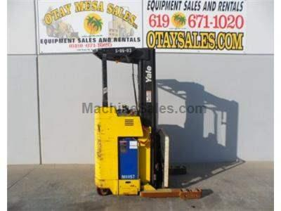 4000LB Electric Reach Forklift, 3 Stage 203 Inch Lift, Side Shift, Narrow Aisle