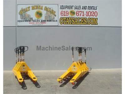 BRAND NEW OMS 5500LB Pallet Jacks, Hand and Foot Release, Package Pricing on 6 and More