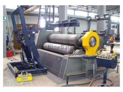 "3000mm x 50mm (10' x 2"") mg (italy) 3-roll hydraulic plate bending machine model ak350g"