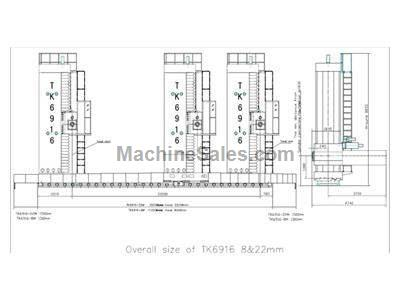 260mm d-f CNC floor type, ram type horizontal boring & milling machine model tk6926.