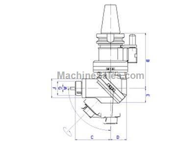 Hold well 45 degree angle head for horizontal boring mills, milling machines and machining