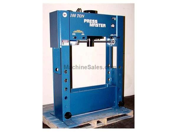 "100 Ton 12"" Stroke Pressmaster HFP-100 H-FRAME HYDRAULIC PRESS, Double Acting, Powered Lift Table"