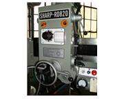 "33"" Arm 8"" Column Sharp RD-820 RADIAL DRILL, 3 HP, #4MT, Power Elevation  Clampi"