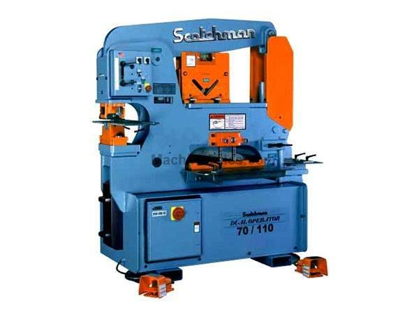 "70 Ton 9"" Throat Scotchman DO 70/110-24M *Made in the USA* NEW IRONWORKER, dual operator; 5 stations; 10 hp 3 ph 230/460v"