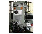 "48"" Arm 11"" Column Sharp RD-1230 RADIAL DRILL, 5 HP, #4MT, Power Elevation  Clam"