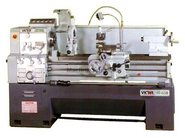 "16"" Swing 40"" Centers Victor 1640B w/Special Package ENGINE LATHE, 	D1-6 Camlock with 2-1/32"" spindle bore; 16 steps"