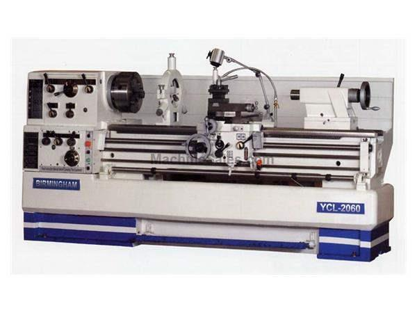 "20"" Swing 80"" Centers Birmingham YCL-2080 ENGINE LATHE, D1-8 with 3-1/8"" spindle bore"
