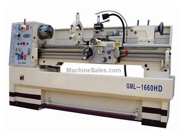 "16"" Swing 60"" Centers GMC GML-1660HD ENGINE LATHE, D1-6 with 2-1/16"" bore; heavy duty gap bed lathe"