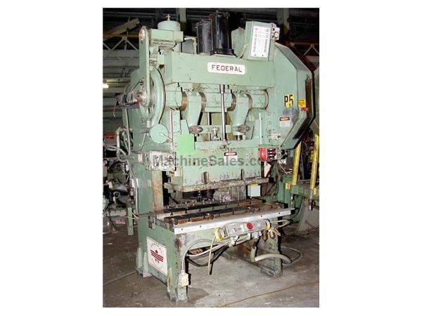 "60 Ton 4"" Stroke Federal 2-60 OBI PRESS, Air Clutch - Variable Speed, 54"" x 24"" Bed"
