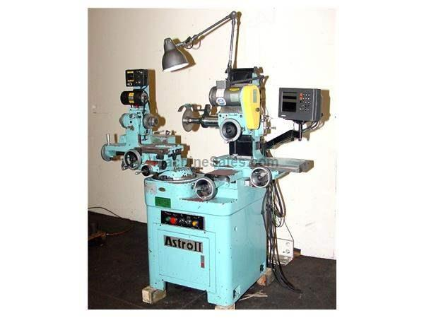 11 18 Denver ASTRO II (MONOSET TYPE) TOOL  CUTTER GRINDER, DRO, ELECTRONIC V/S WKHD., TOOLING