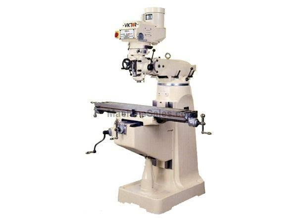 "54"" Table 3HP Spindle Victor JF-4EVS Vari-Speed Head VERTICAL MILL, 10 x 54"" Table, Variable Speed Milling Machine"