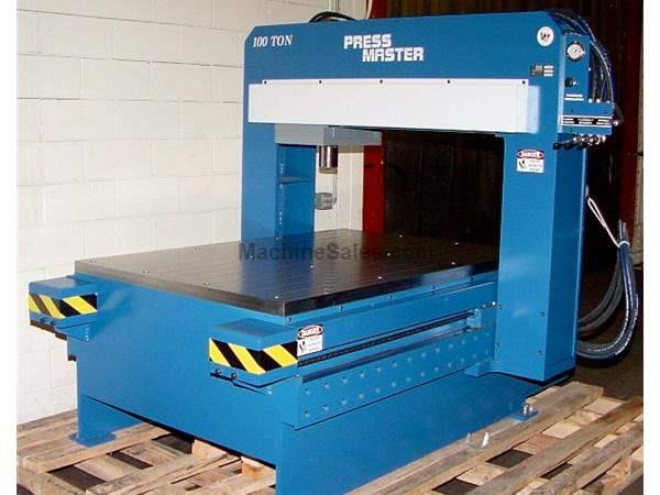 "100 Ton 12"" Stroke Pressmaster GSP-100T-4/8 STRAIGHTEN PRESS, Gantry Style for Flat Plate or Bar"