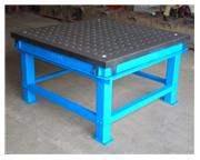 5' Length 8' Width FPM 5' x 8' WELDING TABLE, Cast Iron Welding Platen