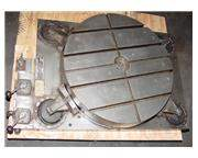 """30"""" Width Giddings  Lewis Air Lift ROTARY TABLE, Air-Lift, Graduated Scale, T-Slotted"""