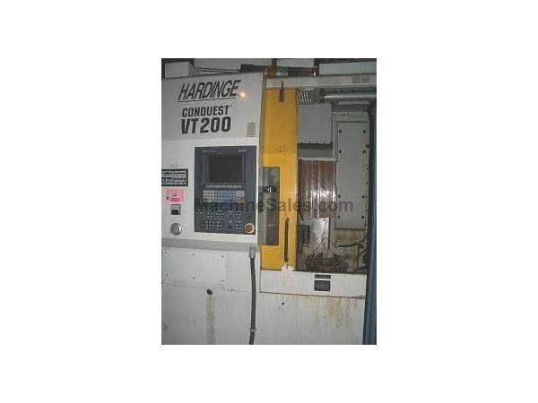 VT-200, HARDINGE 2-AXIS CNC VERTICAL CHUCKING MACHINE 97 USED 7 YEARS EXCELLENT