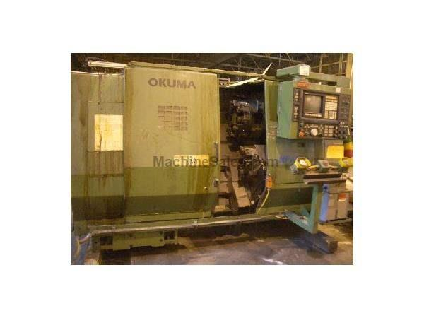 Used OKUMA MODEL LU 15 COMBINATION CNC CHUCKING 4 AXIS LATHE