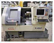 NEW REMEDY MODEL K-45GT SLANT BED GANG STYLE CNC LATHE WITH CENTROID T39W C