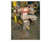 "BALDOR, No. 812RE, 8"" wheel, 1"" wide, 3/4 HP, on pedestal, 1 phase, #F879"
