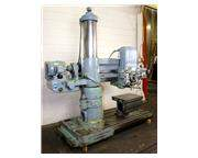 "4' Arm Lth 11"" Col Dia Carlton 1A RADIAL DRILL, Power Elevation , Box Table, #4MT, 5"